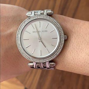 Michael Kors Darci Silver Tone Watch